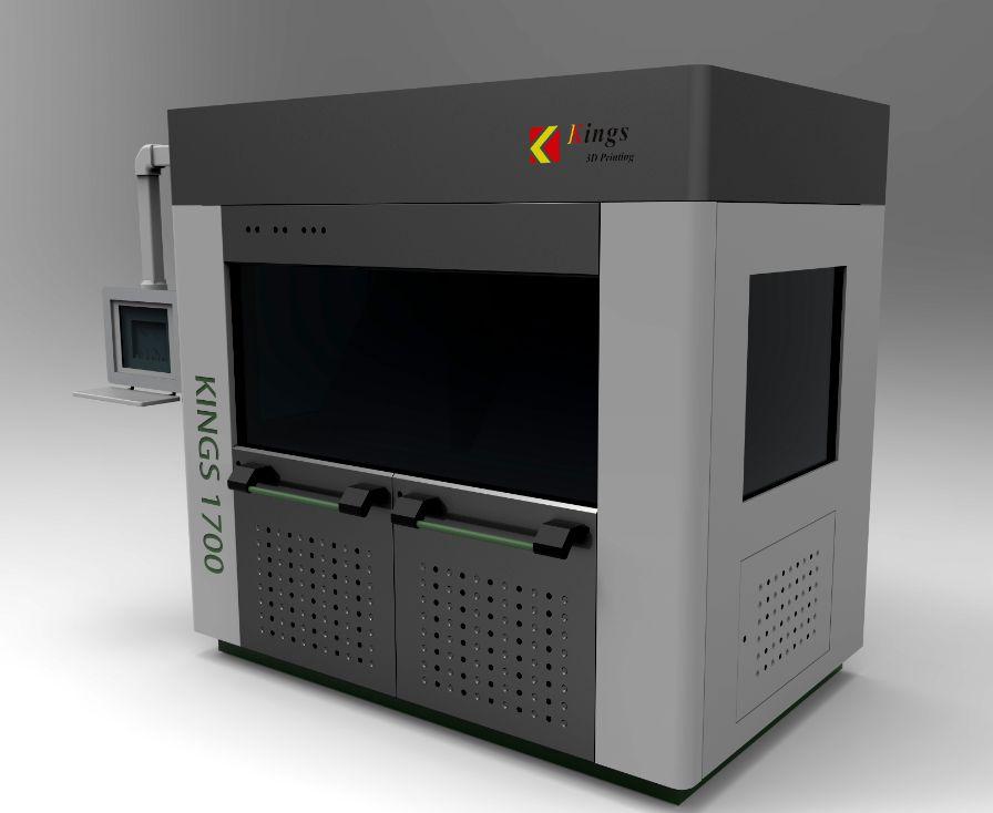 中国最大尺寸的工业级SLA光固化3D打印机KINGS1700