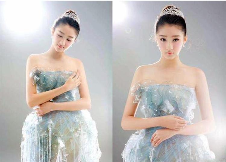 关晓彤!一袭3D打印机的打印版抹胸仙女裙惊艳众人!