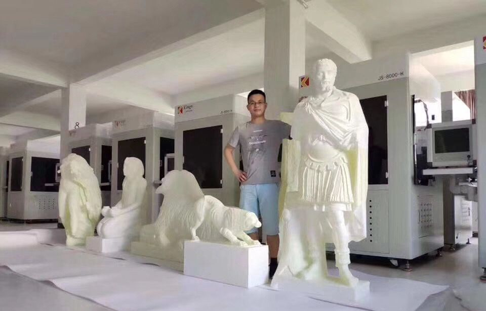 远离污染,追求效率,永大雕塑厂使用金石3D打印机量产大师级佛像工艺品