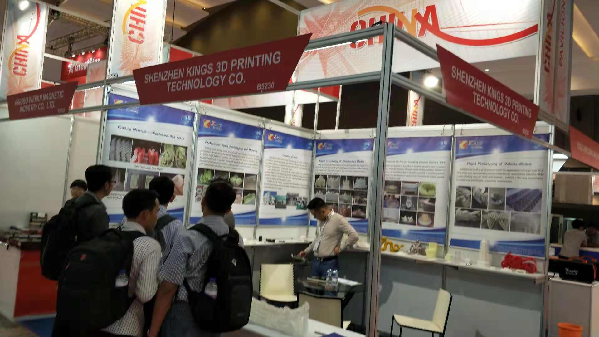 Kings工业级SLA3D打印机在印尼制造展赢得有效反馈