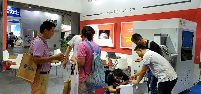 广州陶瓷展,Kings SLA光敏树脂3D打印机因何令观众为之疯狂